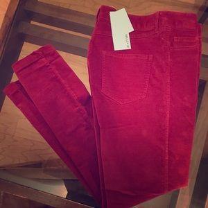 NWT JustFab Red Velvet Straight Leg Jeans